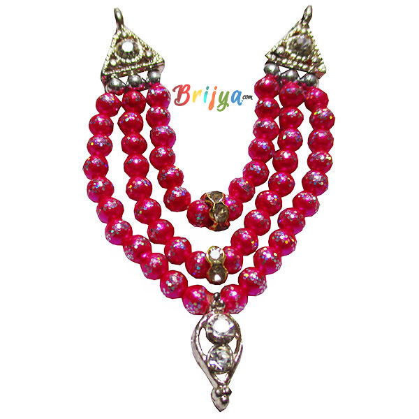 Beautiful-Magenta-Beads-Stone-Laddu-Gopal-Mal