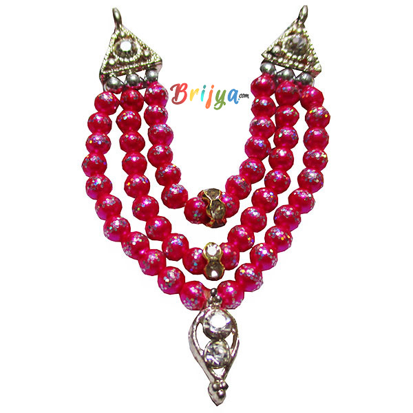 Beautiful-Magenta-Beads-Stone-Laddu-Gopal-Mal