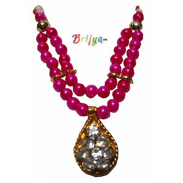 Beautiful-Magenta-Perl-Stone-Bal-Gopal-Mala