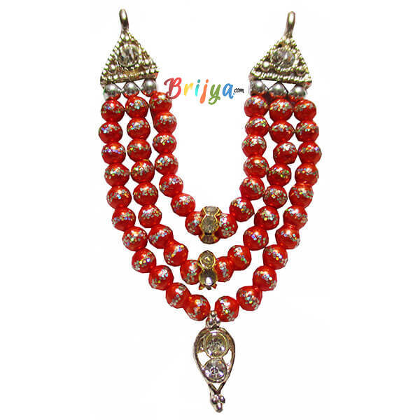 Beautiful-Orange-Beads-Stone-Laddu-Gopal-Mala
