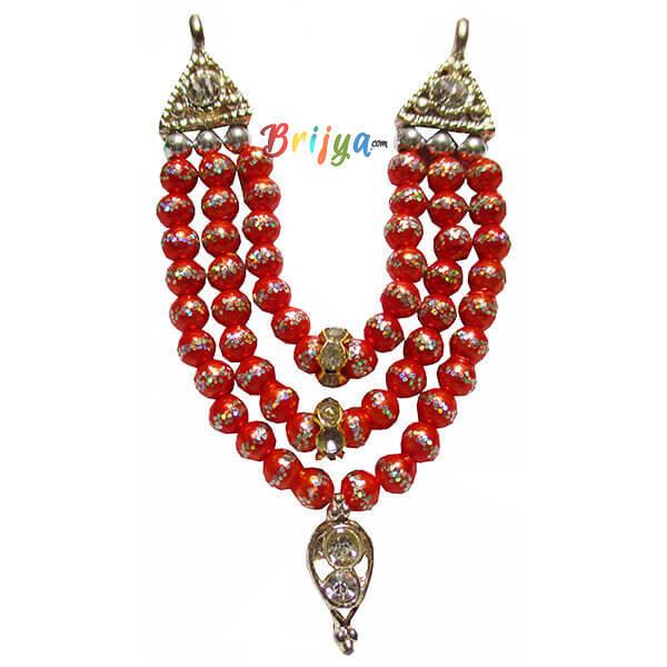 Beautiful-Orange-Beads-Stone-Laddu-Gopal-Mala