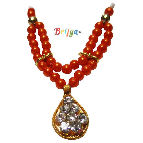 Beautiful-Orange-Perl-Stone-Bal-Gopal-Mala