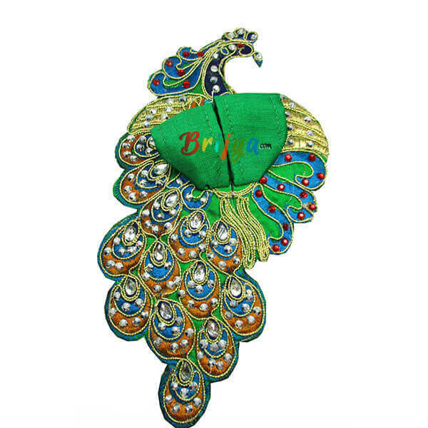 Green-Silk-Kundan-Kalabattu-Laddo-Gopal-Dress-Poshak