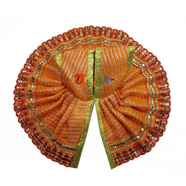 Orange-Fabric-Silk-Gota-Work-Gopal-Poshak-Dress