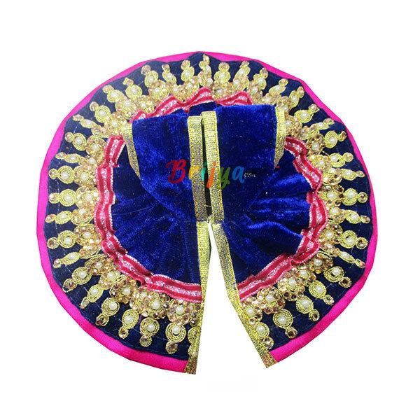 Poshak-Blue-Shaneel-Lace-Work-Dress