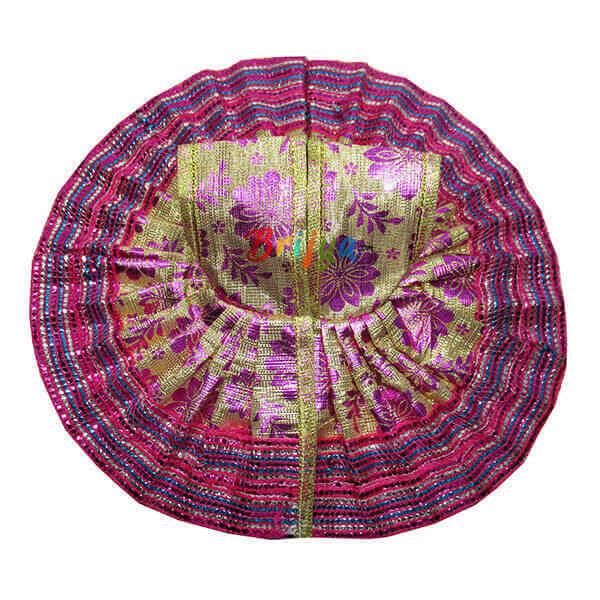Pink-Fabric-Simar-Gota-Lace-Work-Laddu-Gopal-Poshak-Dress