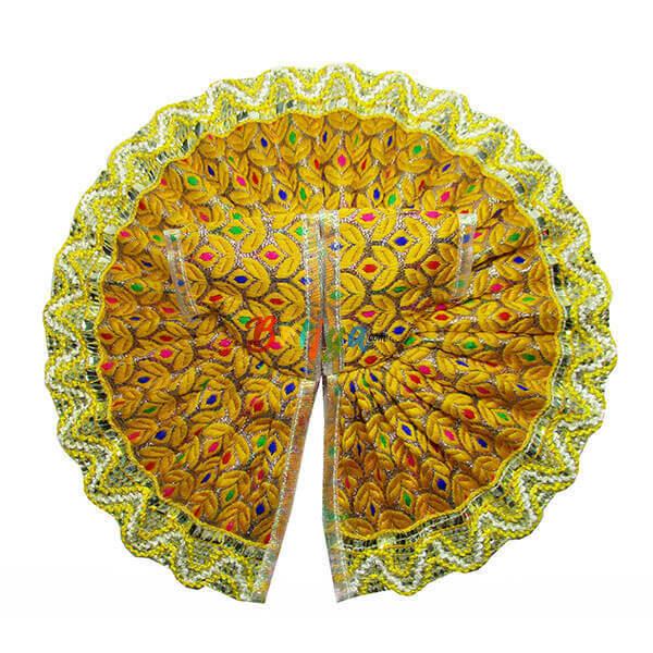 Yellow-Chanderi-Silk-Lace-Work-Bal-Gopal-Dress-Poshak