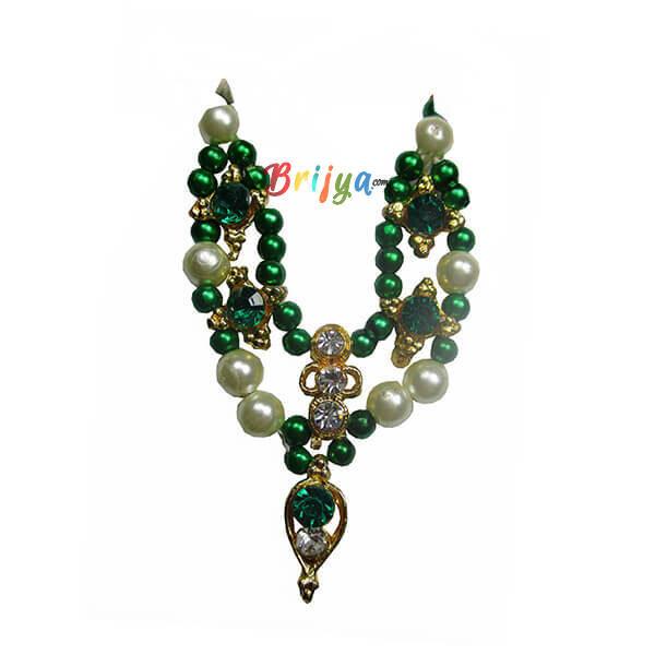 LGM5-Green White Pearl Gopal Mala