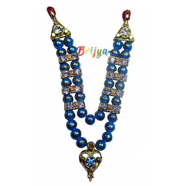 LGM5-SB SkyBlue Beads Stone Laddu Gopal Mala