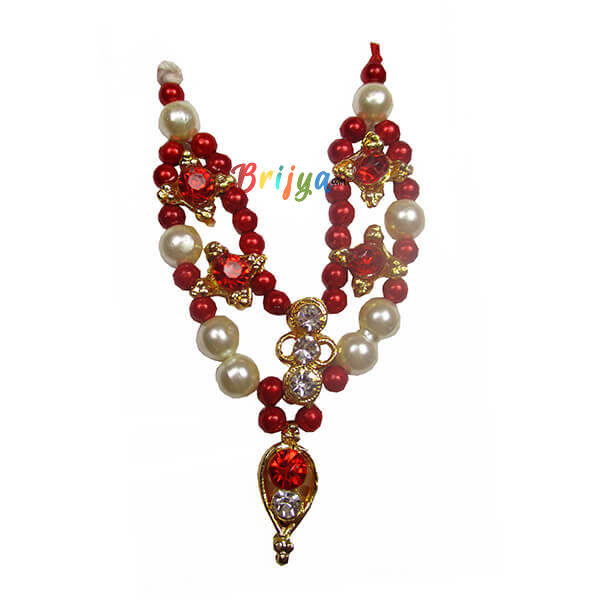 LGM5.Red White Pearl Gopal Mala