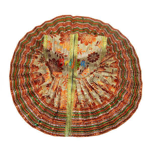 Orange-Fabric-Simar-Gota-Lace-Work-Laddu-Gopal-Poshak-Dress