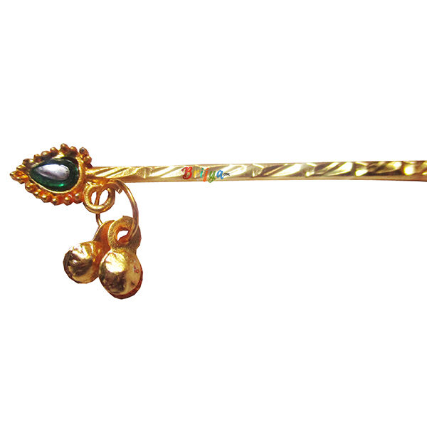 KF20-G Golden Green Krishna Bansuri