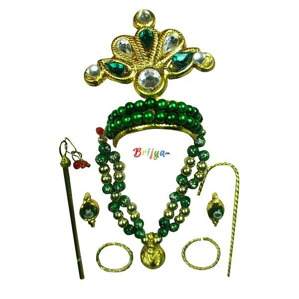 LGMM2-G Elegant Green Mukut Mala