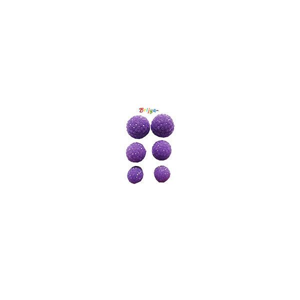 KB1-A Pair Three Radha Krishna Purple Ear Rings
