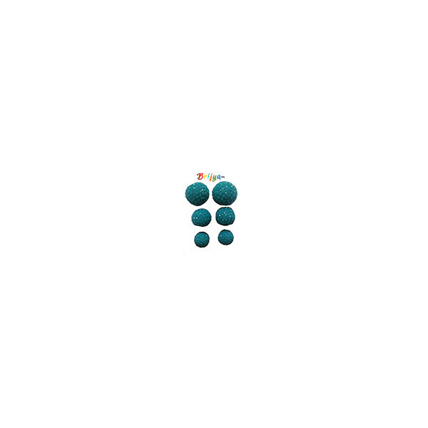 KB1-A Pair Three Radha Krishna Sky Blue Ear Ring