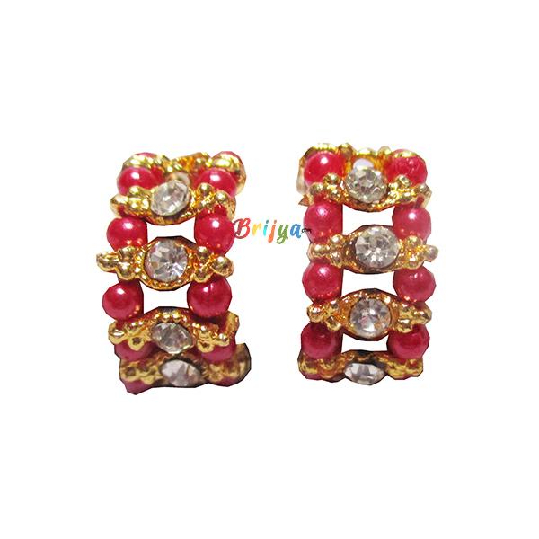 KK1-White Stone Pink Pearl Krishna Bracelet