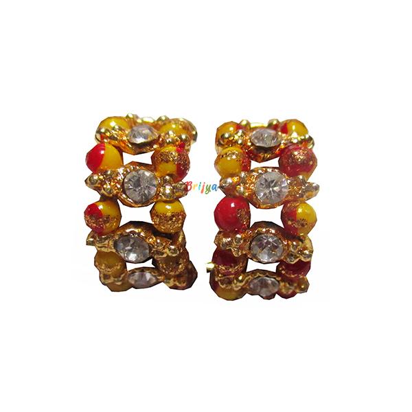 KK1-White Stone Yellow Pearl Krishna Bracelet