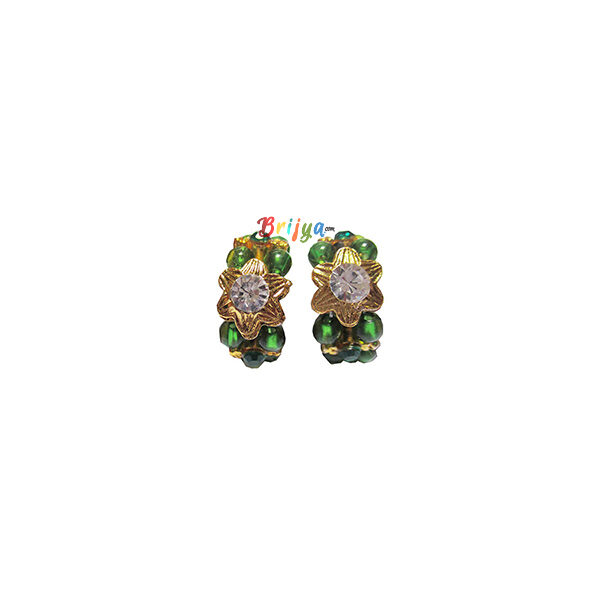 KK6-Green Pearl White Stone Krishna Kangan