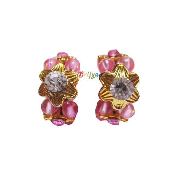 KK6-Pink Pearl White stone Krishna Kangan