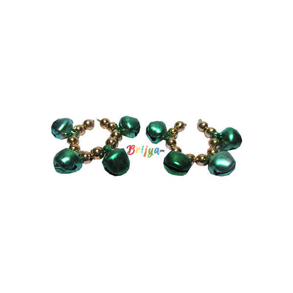 KK7-Beautiful Green Ghungroo Krishna Bangle