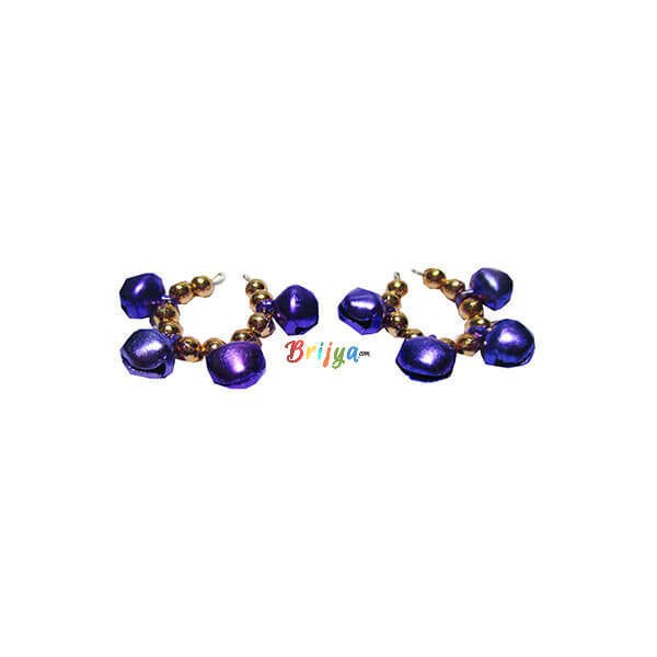 KK7-Beautiful Purple Ghungroo Krishna Bangle