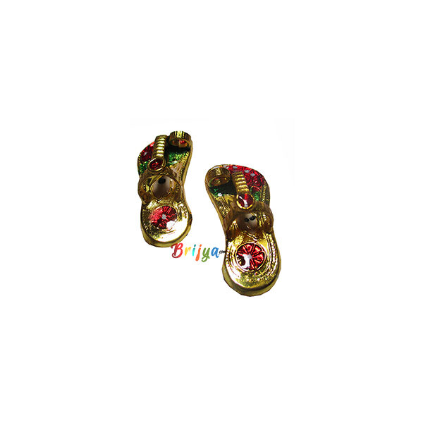 KC2-GO A Pair Of Golden Meenakari Krishna Sleepers