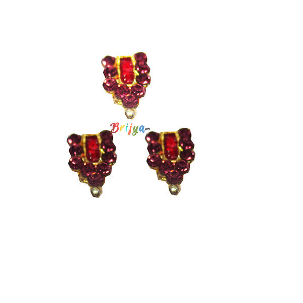 KST4-PU Set Of Three Purple Stone Krishnaji Tilak