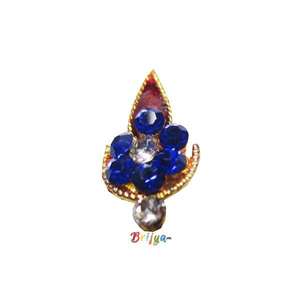 KST5-B Beautiful Fancy Blue Stone Krishna Tilak