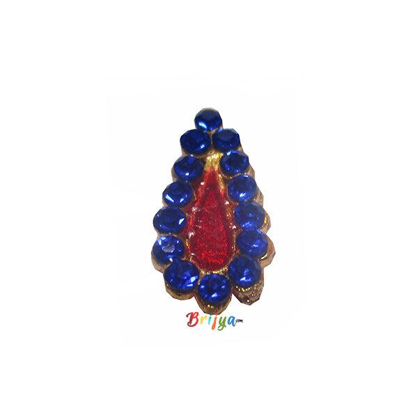 KST6-B Blue Stone Work Krishna Thakorji Tilak