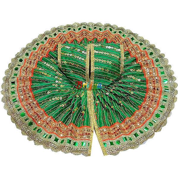 GD20-G Green Silk Sitara Work Laddu Gopal Poshak