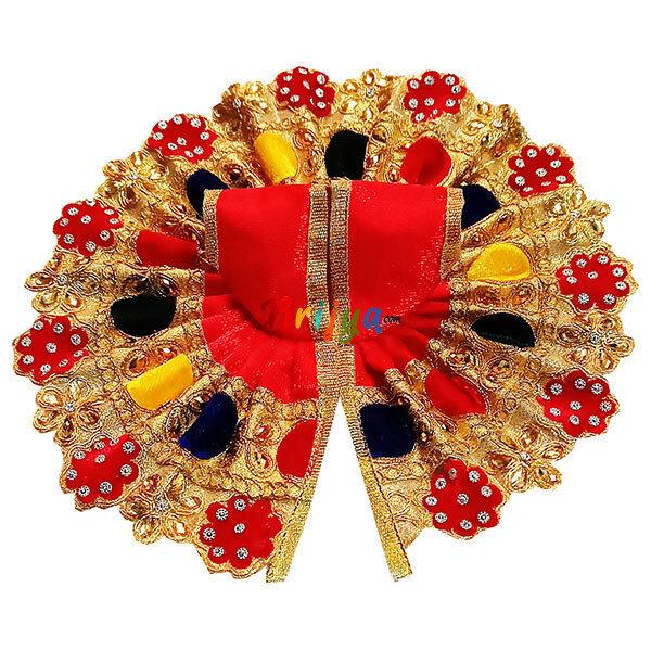 GD28-R Red Heavy Multi Jari Stone Lace Work GopalJi Dress
