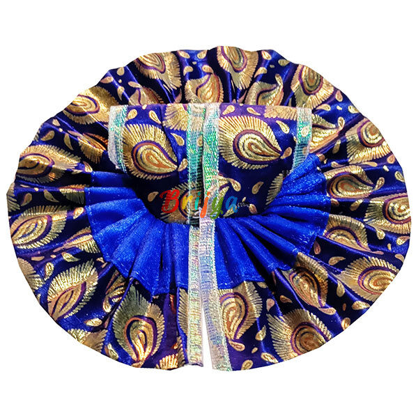 GD30-B Beautiful Blue Oil Paint Laddu Gopal Dress