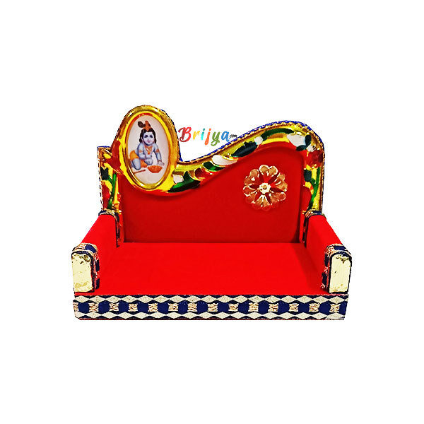 GS3-R Beautiful Velvet Design Thakur Ji Singhasan
