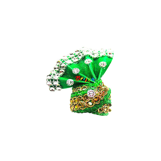 Green-Beads-Lace-Work-Laddu-Gopal-Pagdi