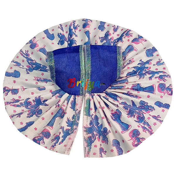 GD35-B Blue White Mix Cotton Laddu Gopal Dress