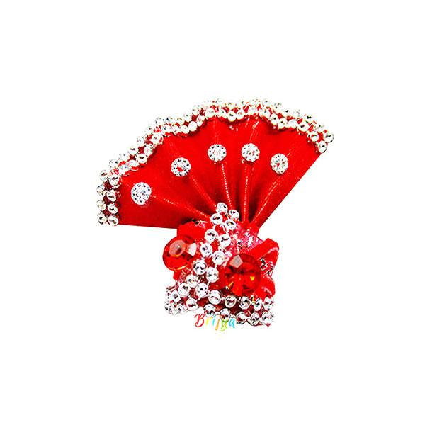 Red-Stone-Beads-Work-laddu-gopal-pagdi