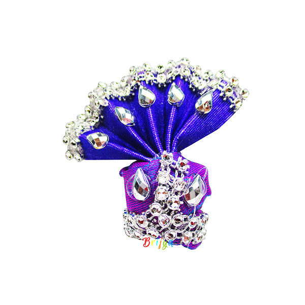 Stylish-Purple-Beads-Laddu-Gopal-Pagdi