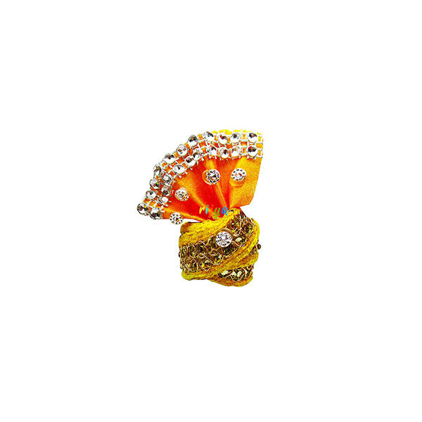 Yellow-Beads-Lace-Work-Laddu-Gopal-Pagdi
