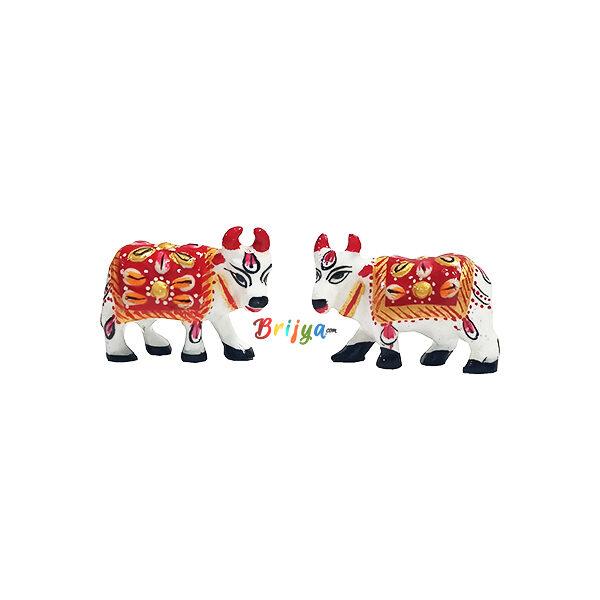 GT2-W Beautiful Multi Color kamdhenu Cow Pair
